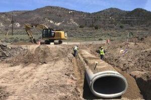 SH-13 Reconstruction Storm drain install