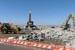 Amarillo International Airport concrete construction