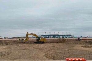 Amarillo International Airport relocation construction