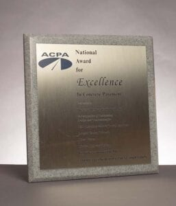 2016 National Award for Excellence from the American Concrete Pavement Association, Denver International Airport