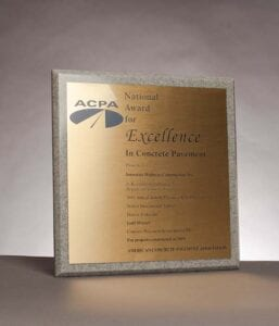 2015 National Award for Excellence from the American Concrete Pavement Association for Denver International Airport Pavement Reconstruction