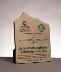 2017 Colorado Contractors Association and AGC, Award for Environmental Excellence