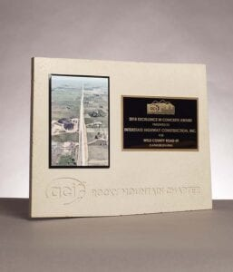 2018 Excellence in Concrete Award for Weld County Road 49 Construction