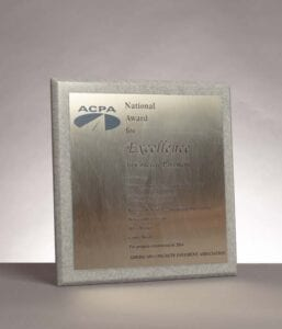 2016 National Award for Excellence from the American Concrete Pavement Association for the I-25 Lincoln Avenue Construction