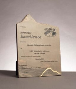 2012 From the American Concrete Pavement Association, Award For Excellence, I-255 in Aurora, CO