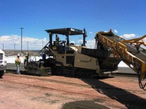 Roller compacted concrete paving