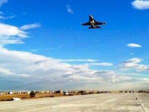F-16 Flyover at Buckley Air Force Base Runway