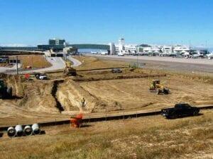 Concourse A East Apron Expansion Grading sitework preparation
