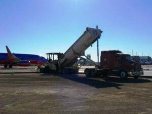 Paving Concrete at Denver International Airport Concourse Snow Storage Pad