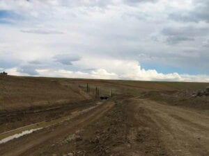 Denver International Airport de-ice pad and taxiway earthwork