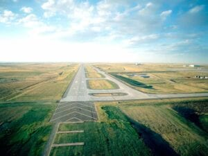 DIA International Runway 16R/34L Concrete Paving Finished Project