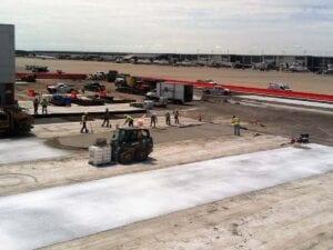Concrete Paving at Airfield Pavement Rehabilitation and Modification, Detroit Metropolitan Airport