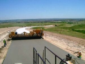 Paving Hess Road to connect I-25 with a concrete highway