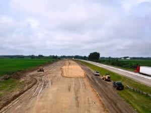 Grading earthwork on eastbound Roadway of I-196