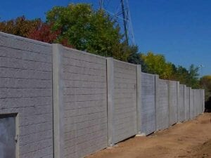 reconstruction of I-225 sound wall