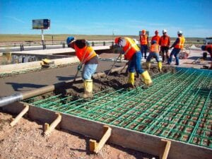 I-25 concrete paving