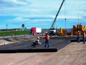 I-25 concrete paving preperation