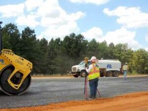 Interstate 49 concrete paving on the Louisiana Arkansas State Line