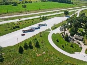 I-69 freeway rest area