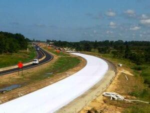 I-69 freeway concrete paving progress