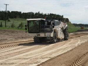 Removal of concrete on I-80 Wyoming Line to Bushnell