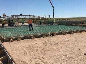 concrete paving to replace old road surface on I-80 Wyoming Line to Bushnell