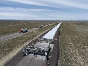Concrete Paving of the I-80 westbound lanes at Granger Junction
