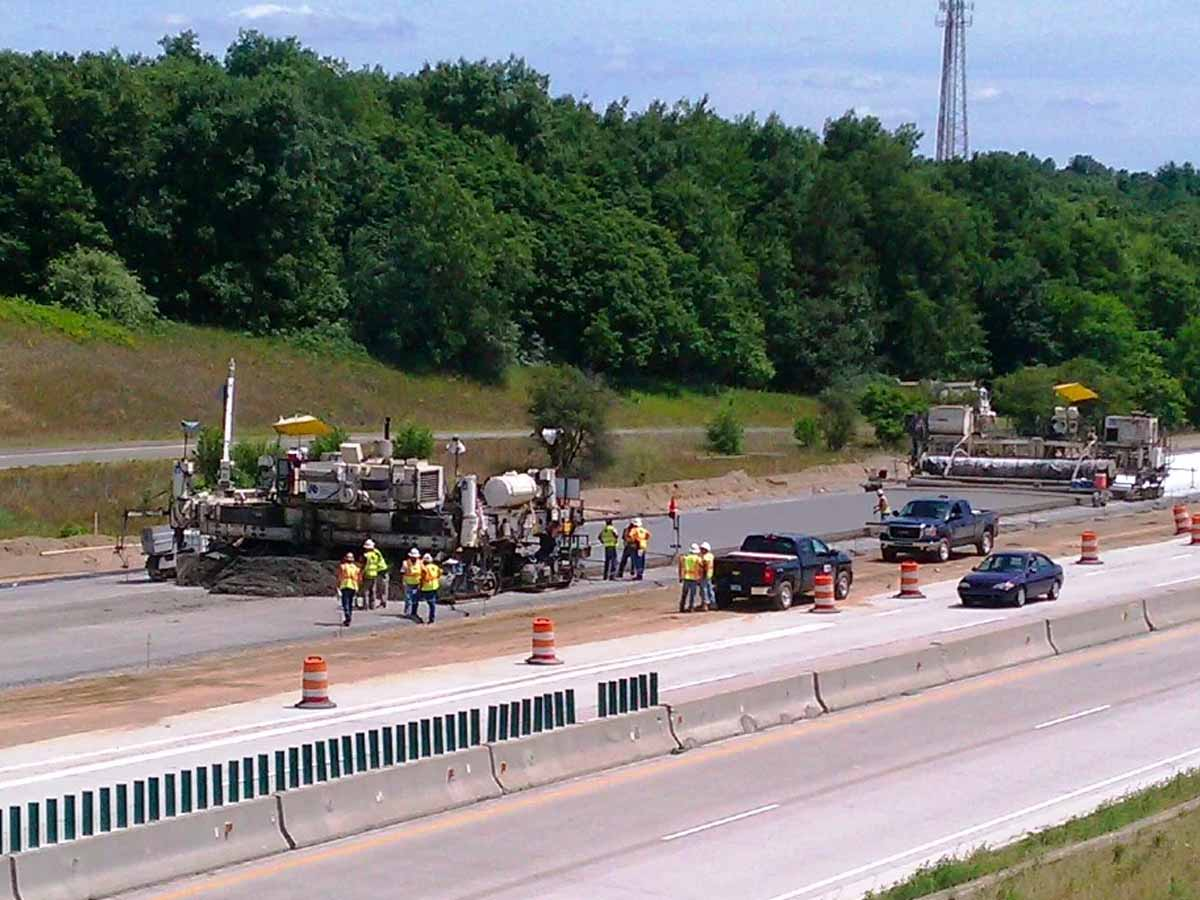 I-94 Reconstruction with concrete paving