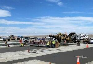 Denver International Airport Rehabilitation Improvements PCCP concrete paving