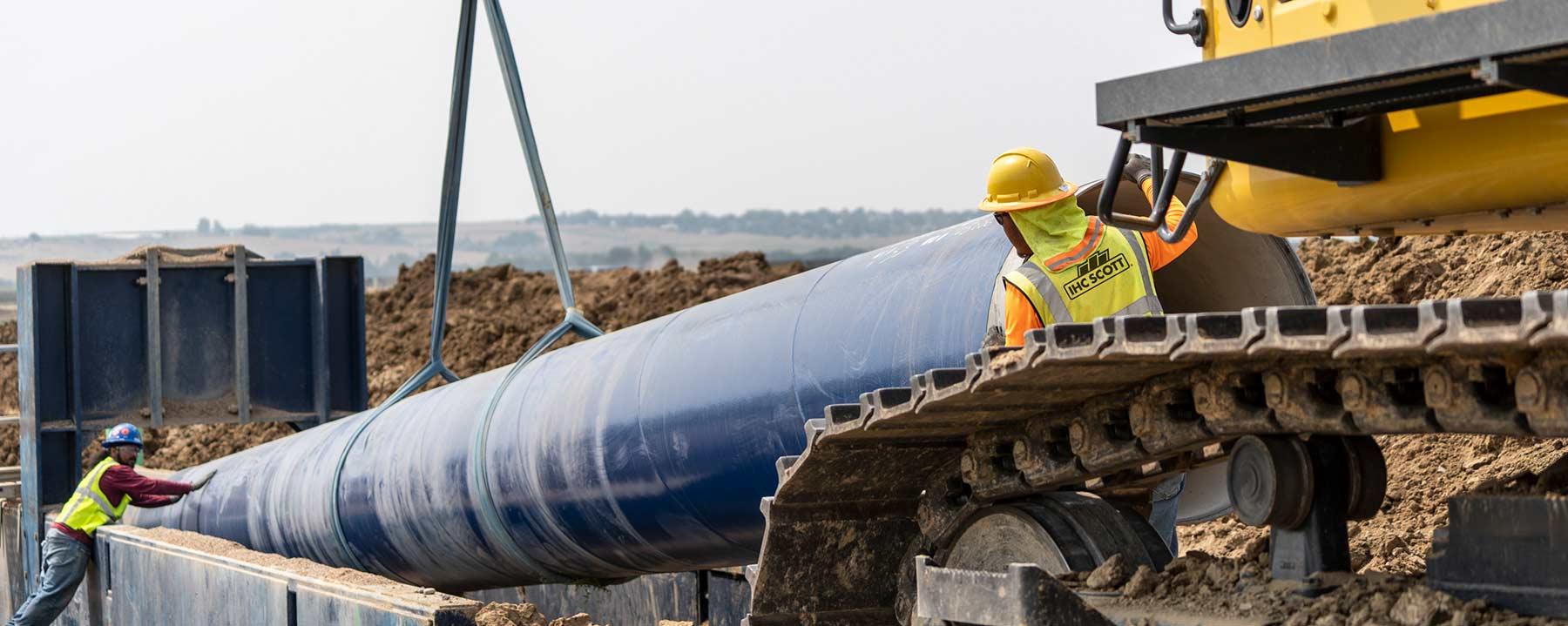 Large Diameter Wet Utility Installation