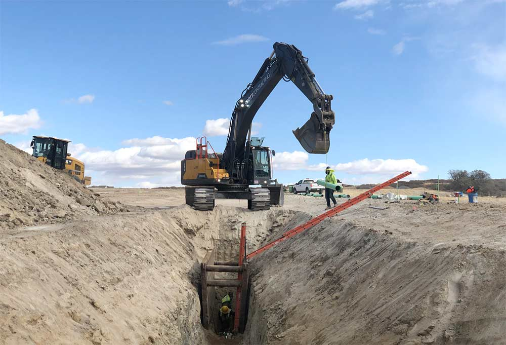 Montaine Residential Development pipeline industry installation
