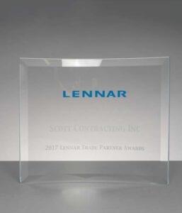 2017 Trade Partners Award from Lennar Homes