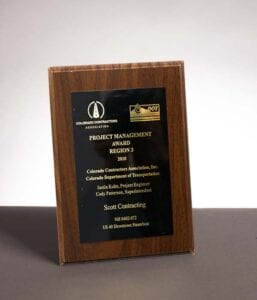 2010 Colorado Contractor Association, Award for US-40 Downtown Steamboat Construction