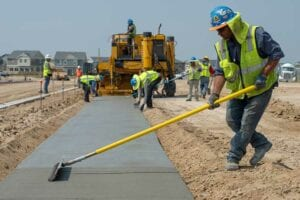 concrete sidewalk paving