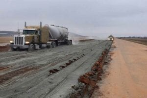 McAlester Airport Runway Soil Cement Subgrade treatment