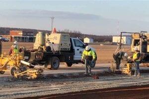 McAlester Airport Runway 02-20 Rehabilitation Concrete Paving Preperation