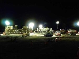 Runway 17R-35L Complex Pavement Rehabilitation Project for Denver International Airport Night Paving