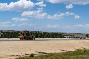 intersection of SH86 and Elizabeth Colorado road construction