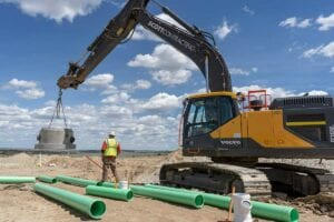 Independence Residential Development installing sanitary sewer line utilities