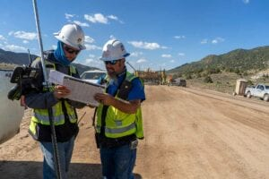 Project Manager with Surveyor on SH-13, Colorado