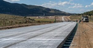 State Highway 13 PCCP paving near Rifle, CO