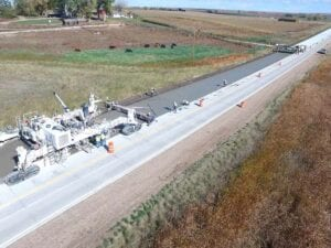 Concrete Paving State Highway 14 from I-25 East to Weld County Road