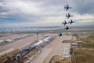 Airforce Flyover honoring pandemic frontline workers