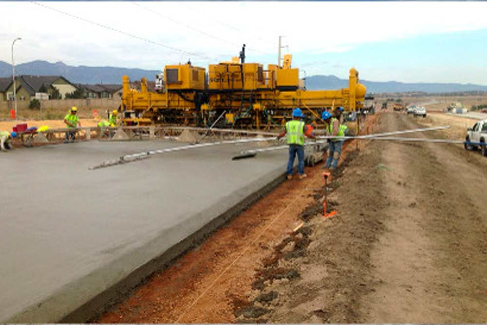 State Highway 21 concrete paving