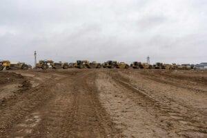 Timberleaf residential development mass grading scrapers