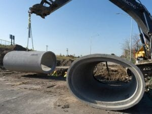 Timberleaf residential development utility installation