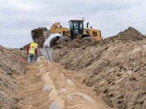 Timberleaf residential development storm water drain install