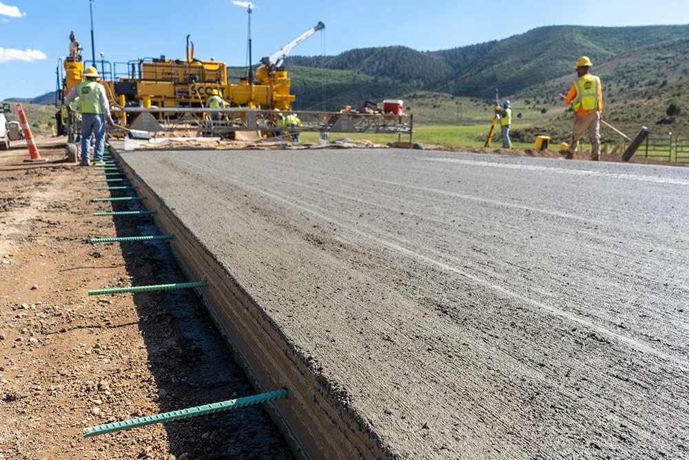 State Highway paving
