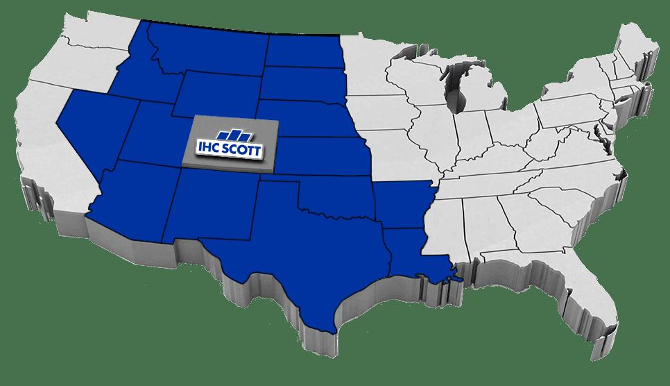 Map of IHC Scott areas of operation