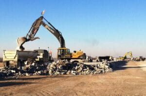 Tulsa International Airport's third phase of the reconstruction of Runway 18L/36R Concrete removal